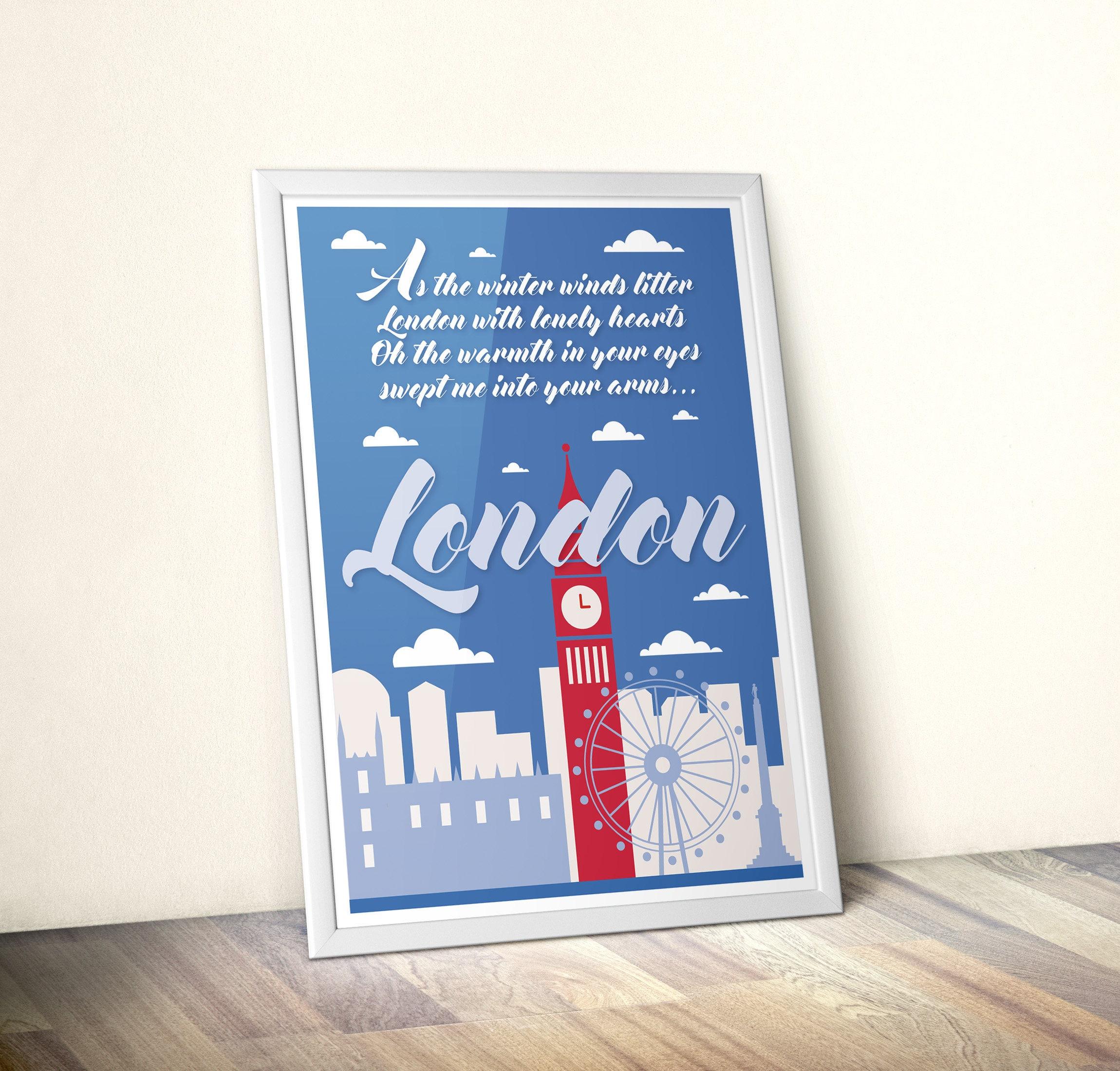 London Skyline-printable file suitable for framing ...