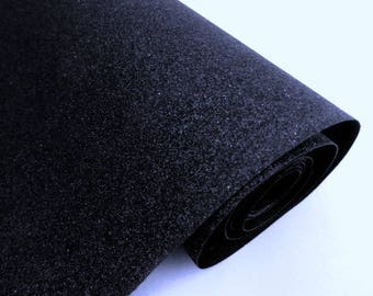 blue black glitter sequin 30 / 25cm for customisation, sewing and DIY, washable