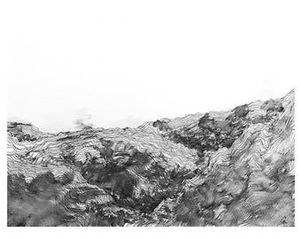 Evaporate I - A4 Giclée print