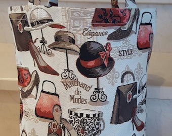 "Tote collection ""Marchand de fashions"" 32 x 42 cm"
