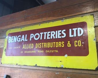 Antique Potteries Sign