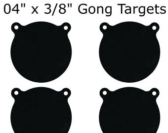 """Set of 4 AR500 Steel 4"""" x 3/8"""" Shooting Targets Gong Style"""