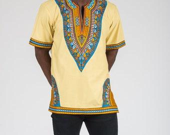 Men's African Dashiki Print Shirt