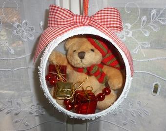 The teddy bear decoration Christmas tree Christmas ball