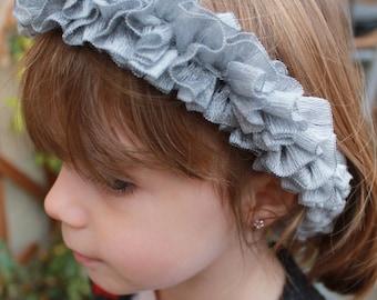 Gray girl hair band