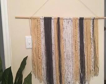 Boho Yarn Tapestry Wall Hanging