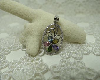 Silver and tourmaline