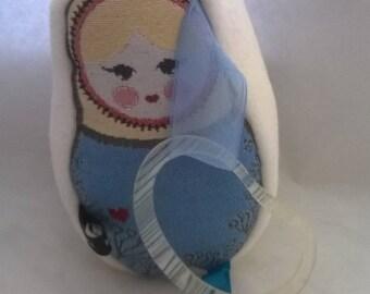"""""""Russian Doll"""" blue blanket"""