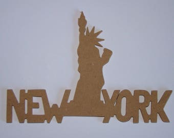 New York Statue of liberty to decorate wooden mdf 24.5 cm x 17 cm