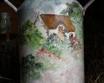 Vintage: CHANE painted * thatched cottage *.
