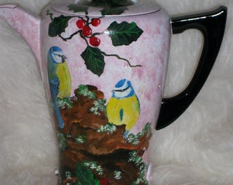 Vintage: beautiful old painted coffee pot * tits *.