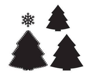 Die Marianne Design Craftables new snowflake Christmas tree cutout