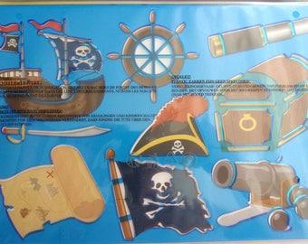 Santa Claus hard plastic - PIRATE ship art STENCILS 425
