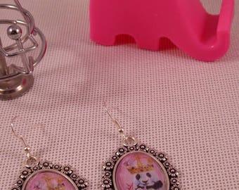 "Earrings ""Panda"" Creat'Y. O.N - sweet & fun-"