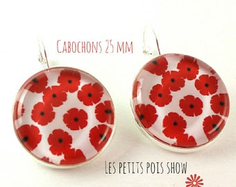 Earrings # poppies # large model