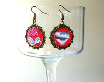 Earrings pendentifs●○●BRISE MARINE●○● retro vintage romantic