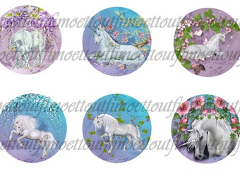 Digital image (minimum) 42 pretty Unicorn, flower (send email)