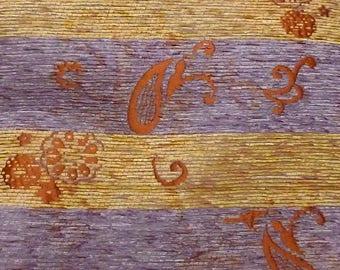 Burgundy taffeta lined Terry flower pattern