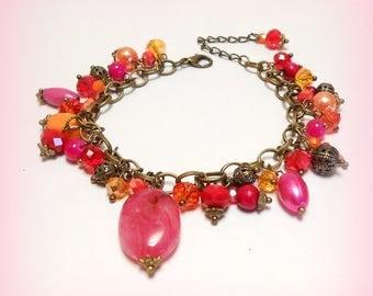 "Charm bracelet beads ""Vitamins and Co"""