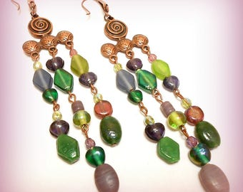 """Spirit Ottoman"" Gypsy earrings"