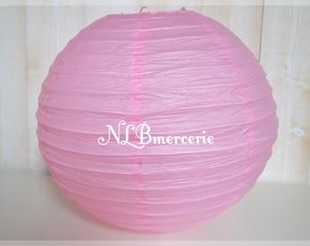 Lantern pink light rice paper lantern, Chinese ball 40 cm diameter