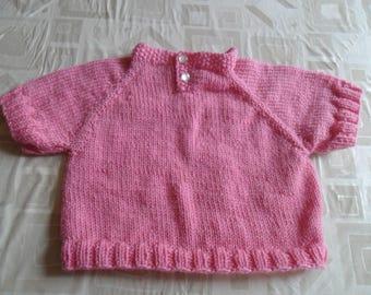 handmade pink sleeve jacket 12 months short