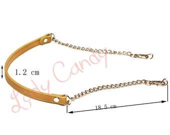 Handle shoulder bag beige leatherette 62 cm #330085