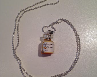 "Necklace fimo liquid ""jar of jam"""