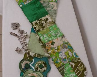 patchwork deco roundels - flowers, charms hip belt