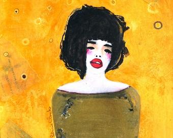 Odile portrait woman without a matte paper