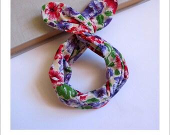 headband pattern beige hair flower
