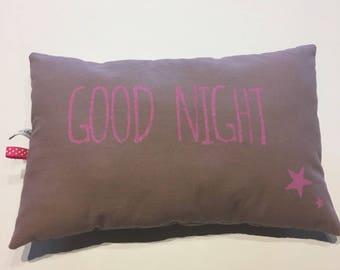 Small cushion decorative good night