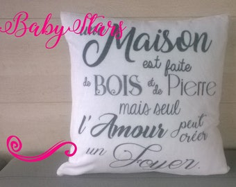 "Pillows with custom ""soft"" birth, home decor, name, quote 40 cm"