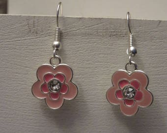 Earrings small bright flowers
