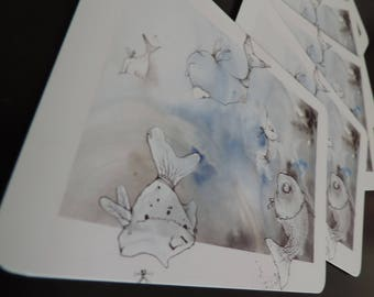 """Postcards - images from the book project """"Flying fish"""""""
