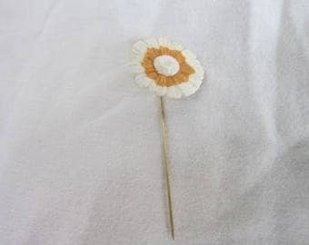 Vintage Porcelain China Flower Stickpin