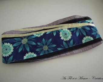 Cotton blue flower headband