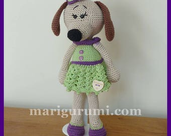 Crochet Amigurumi plush dog