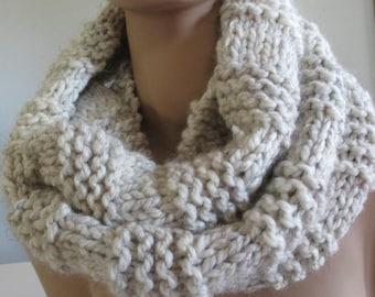 Handmade Knit Infinity Scarf - Heavyweight