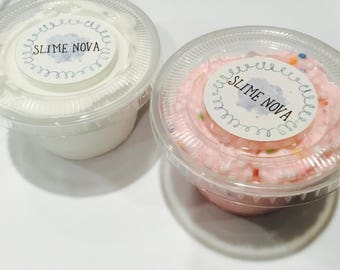 Funfetti Duo! Pink Funfetti Floam and Vanilla Buttercream Slime
