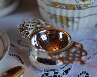 Windsor Silver Plated Tea Strainer for Loose Leaf Teas