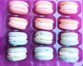 Pink and Blue, Macaroons, Baby blue, baby pink, Edible gifts, Gender reveal, Wedding favours, diy Wedding favours, Gluten free