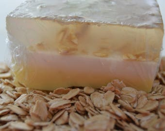 Honey, Almond, and Oats Soap Bar ( Homemade)