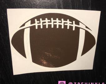 Football vinyl decal