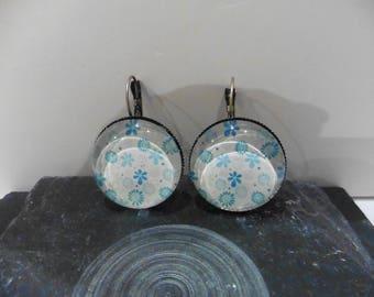 """""""Earrings"""" blue flowers """""""