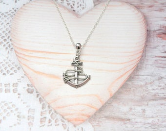 Anchor charm pendant chain necklace, sea, marine