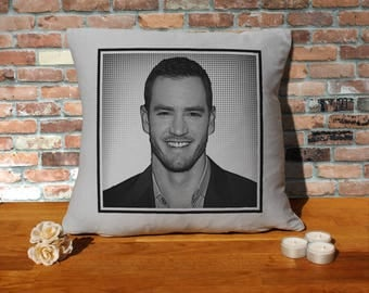 Mark-Paul Gosselaar Pillow Cushion - 16x16in - Grey