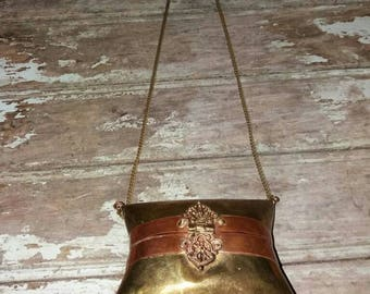 Beautiful Vintage Copper And Brass Pillow Clutch/Purse Bag, Gift,Purse,Gift For Her,1930's