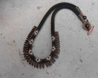 """Cheyenne"" crocheted Choker necklace"