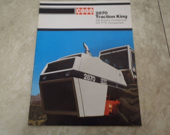 Case 2870 Traction King Tractor Literature